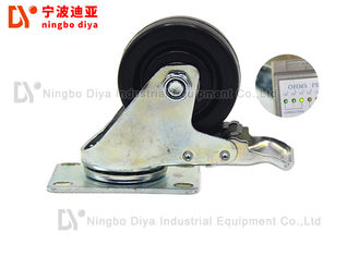Anti Static Plate Caster Wheels For Hand Cart / Lean Tube Shelves