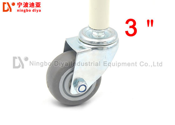 3 / 4 Inch Industrial Caster Wheels , Hard Rubber Caster Wheels Without Noise / Brake