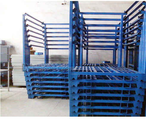 Warehouse portable stacking adjustable metal tire rack storage system