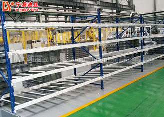 Rolling Fluent Stacking Rack System Shelf Storage Warehouse Rack For Display