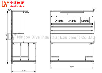 Anti Static Production Industries Workbench ,Black Lean Tube Detection Workbench