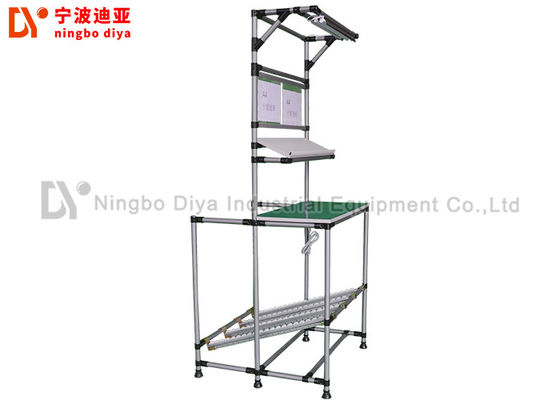 Customized Production Basics Workstations Silver Gray For Small Parts Assembly