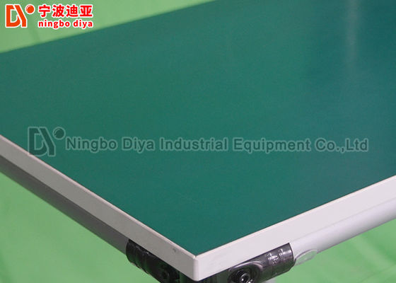 Silver Gray Production Industries Workbench , Polished Surface Assembly Line Worktable