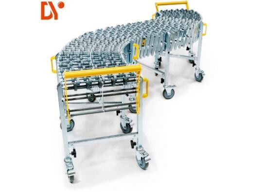 Simple Operation Roller Conveyor System , Conveyor Roller Assembly Machine For Warehouse