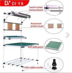 DY33 Industrial Assembly Workbench Table With Lean Tube / Aluminium Profile