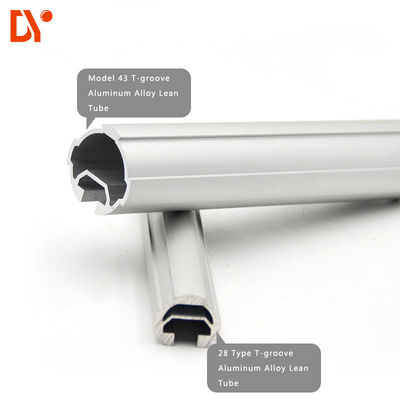 Round Seamless Aluminum Pipe DY43-02A / Lightweight Aluminum Pipe For Rack System
