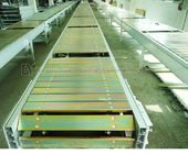 Flexible Flat Top Chain Conveyor , Fire Resistant SS Slat Chain Conveyor