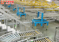 Single Chain Driving Package Roller Conveyor , Industrial Powered Turning Roller Conveyor