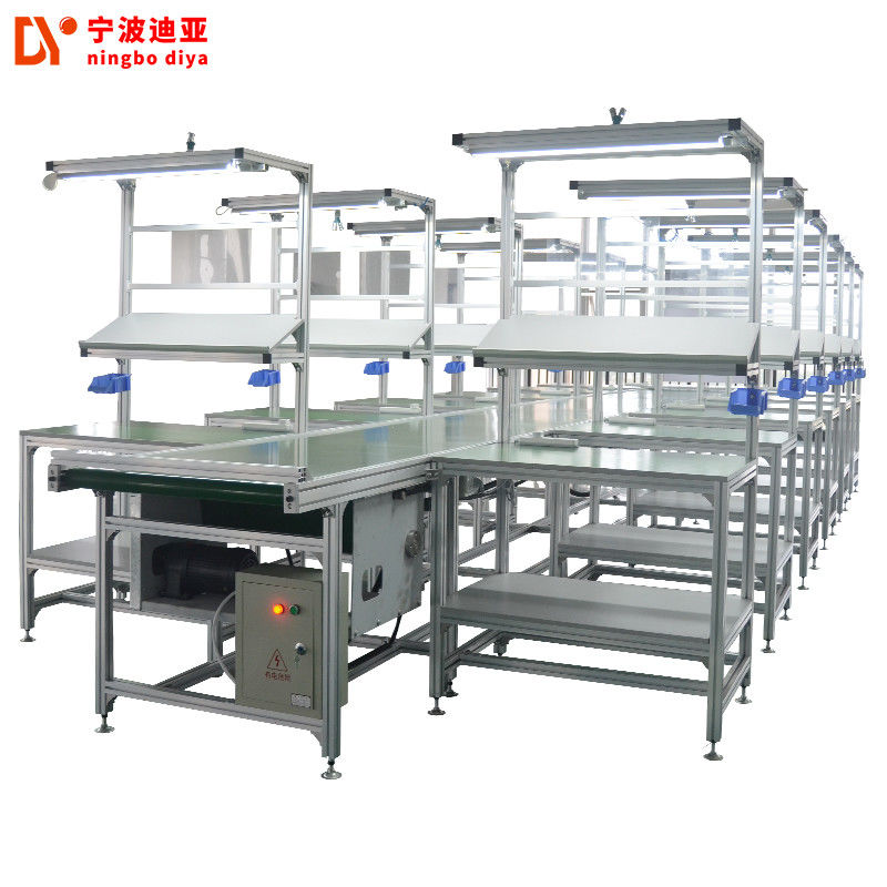 White Heavy Duty ESD Safe Workbench , Customized Anti Static Workbench With LED Light
