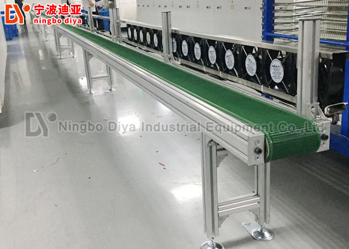 Anti Static Assembly Line Conveyor , HI Q Conveyor Belt System For Electronic Production
