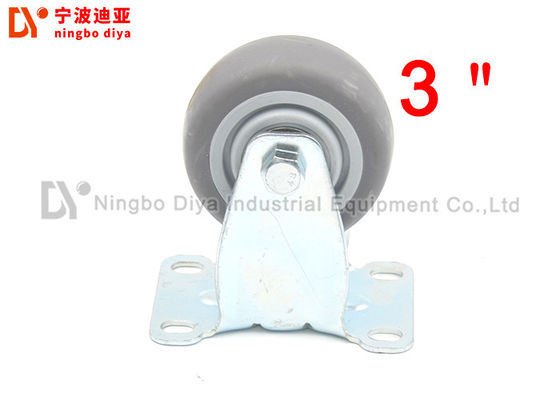 China Anti Static Rubber Roller Wheels TPR Mute Plate Removable Caster Wheels For Shelves factory