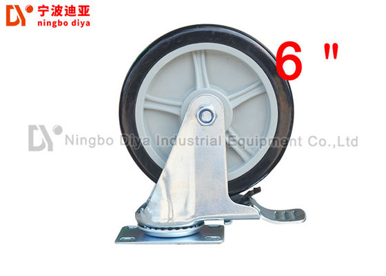 China Grey Heavy Duty Metal Caster Wheels ZP SC 6 PU 6 Inch Polyurethane Caster Wheels factory