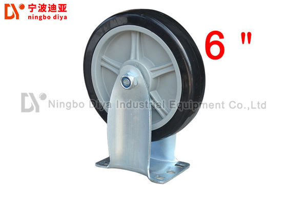 China PU Grey Directional Industrial Caster Wheels , 6 Inch Heavy Duty Rubber Caster Wheels factory