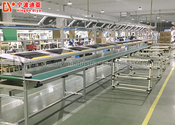 China Parallel Conveyor Belt Line Assembly Line Roller Conveyors For Workshop Material Transfer factory