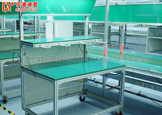 China Double Layer Conveyor Belt Production Line , Aluminium Automatic Assembly Line factory