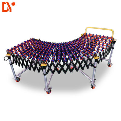 China Warehouse Roller Conveyor System Gravity Flexible Roller Conveyor With Skate Wheels factory