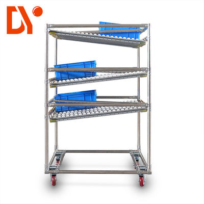 Heavy Duty FIFO Storage Racks , Mobile Coated Pipe Storage Rack