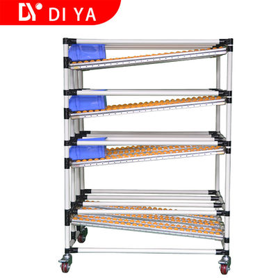 Roller FIFO Storage Racks DY51 For Lean Pipe System / Pipe Rack Storage