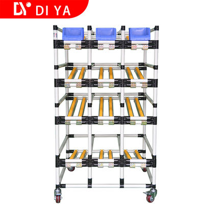 Metallic Roller Track System DY53 , Multi Layer Pipe Rack Storage