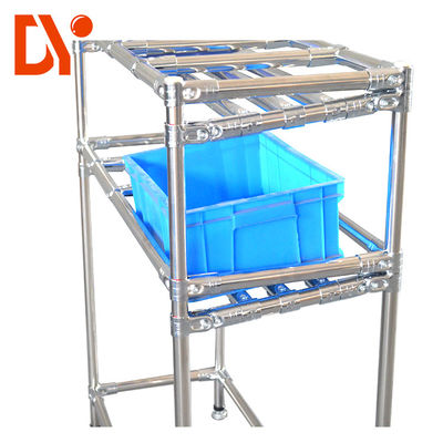 Heavy Duty Aluminium FIFO Storage Racks DY28 For Warehouse / Workshop Storage
