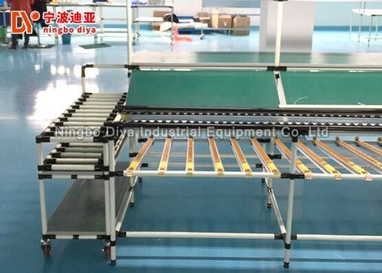 Adjustable Roller Conveyor System , Powered Roller Conveyor With Strong Load Capacity