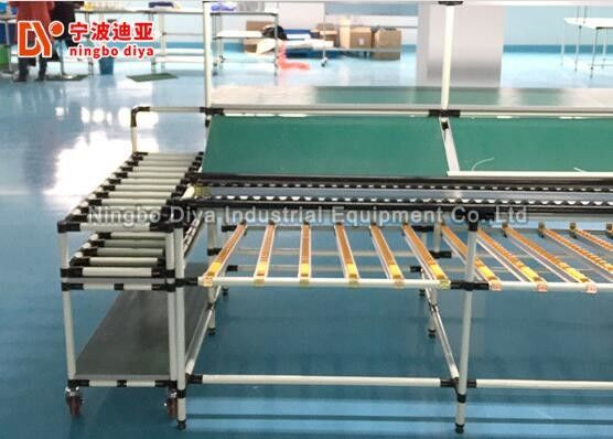 China Food Grade Power Roller Conveyor Systems With Wire Mesh Stainless Steel Table factory