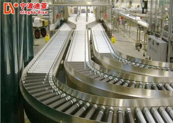 Aluminium Ball Transfer Table , Customized Roller Chain Conveyor
