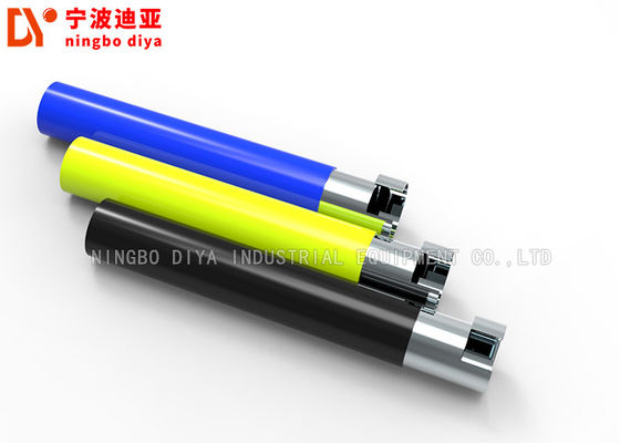 China Silver Color Lean Pipe DY183 , 28MM Colorful Plastic Coated Steel Tube factory