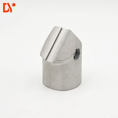 OD 43mm Aluminium Alloy Pipe Connector 45 Degree External Joint DYJ43-A45